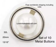 Silver Pearl buttons. Pearl jacket buttons, Pearl buttons, Free worldwide shipping
